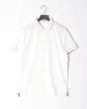 ホワイト●リブ配色ポロシャツ○316P5501