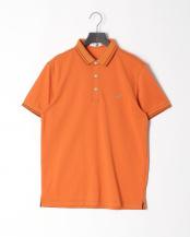 オレンジ●リブ配色ポロシャツ○316P5501