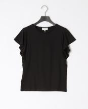 ブラック●シルスムースフレアスリーブTシャツ○528-18357