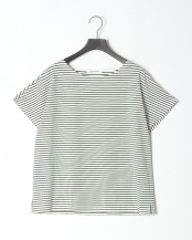 グリーン●ボーダーフレンチTシャツ○20966