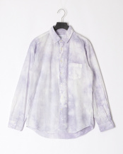 GREY●TIE DYE LOOSE FIT R/C SHT○MA-S-502
