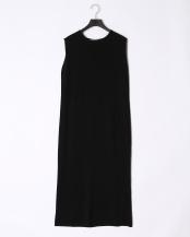 BLACK●ストレッチレーヨン タックロングワンピース○193000