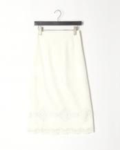 91/無彩色B(オフホワイト)●刺繍レース ロングスカート○80190635