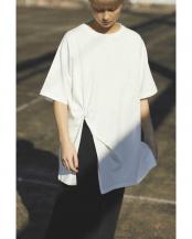 ホワイト●ねじりチュニックTシャツ R/B(オリジナル)○6000113003