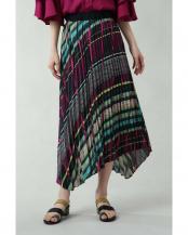 ピンク●ランダムストライププリントスカート R/B(オリジナル)○6009234010