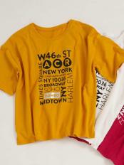 イエロー●DUMBOコラボ ロゴTシャツ[WEB限定サイズ] a.v.v○K2KFG52029