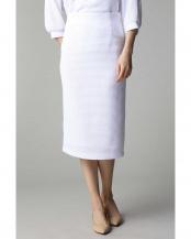 ホワイト●Unaca noir バスケット素材タイトスカート(セットアップ対象商品) アナディス○5918190665
