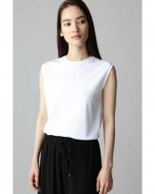 ホワイト●スリーブレスフライスTシャツ アナディス○5919160718