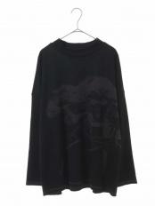 ブラック●【洗える】イラストデザインジャガードプルオーバー TRUNK HIROKO KOSHINO○RSPCL10270