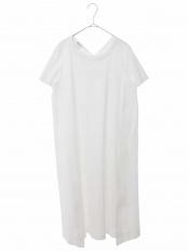 ホワイト●【洗濯機で洗える】バックシャンジャージードレス HIROKO BIS○RBPGH75230