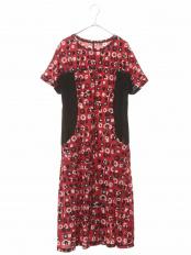 レッド●【洗濯機で洗える】ランダムドットプリントドレス HIROKO BIS○RBPGH76290