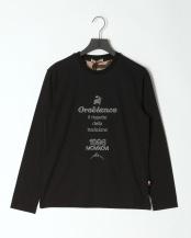 ブラック●ロゴ刺繍天竺長T○43270108