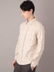 ベージュ●オリジナルプリントキモウシャツ a.v.v HOMME○KHBAJ16039