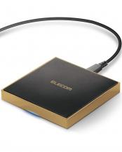 ゴールド●「Qi規格対応ワイヤレス充電器」 5W/10W/卓上/メタル筐体○W-QA11GD