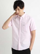 ピンク イージーケアオックスハンソデシャツ[WEB限定サイズ] a.v.v HOMME○KHBGG36039