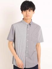 ブラック●チェッククレイジーキリカエシャツ[WEB限定サイズ] a.v.v HOMME○KHBGG37049