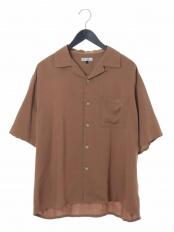 ベージュ●レーヨンアサオープンカラーシャツ a.v.v HOMME○KHBHG51044