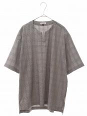 グレー キーネックプルオーバーシャツ a.v.v HOMME○KHBHG61059
