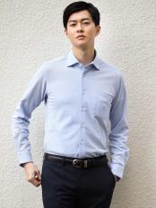 ライトブルー●【吸水速乾】シルケットカノコシャツ a.v.v HOMME○KWBEJ01049