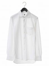 ホワイト●【吸水速乾】シルケットカノコシャツ a.v.v HOMME○KWBEJ01049