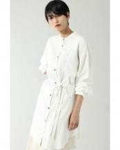 ホワイト●ロングシャツブラウス R/B(オリジナル)○6000110002