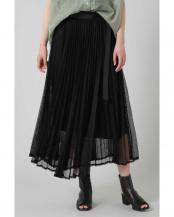 ブラック●メッシュプリーツスカート R/B(オリジナル)○6000134030