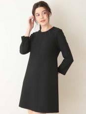 ブラック●定番 TOILE DOUBLE ドレス【洗える】 TARA JARMON○VZEEL04460