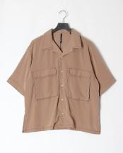 ベージュ●ポリエステルBIGポケットシャツ○104002H