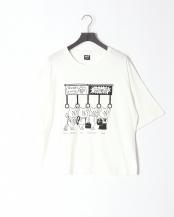 オフホワイト●頑張るクマ柄Tシャツ○302011