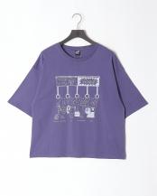 パープル●頑張るクマ柄Tシャツ○302011