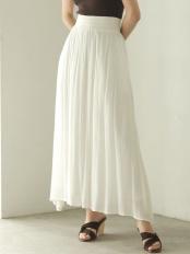 ホワイト●ラメストライプスカート LAGUNAMOON○031920801001