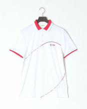 White●テクニカルファブリック ポロシャツ○50382150