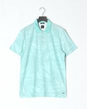Light/Pastel Blue●マーセライズドコットンジャカード パームツリーパターン ポロシャツ○50383018