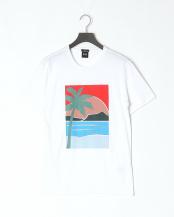 White●サマープリント スリムフィット Tシャツ○50388531