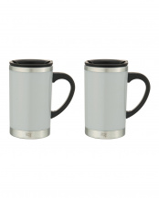 GRAY●Slim mug 2pce set○SM16-29×2