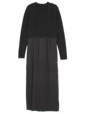 ブラック●SATIN PLEATS SK KNIT OP ELENDEEK○512010322901