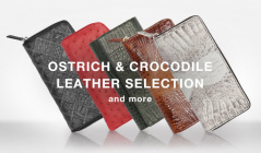 OSTRICH & CROCODILE LEATHER SELECTION and moreのセールをチェック
