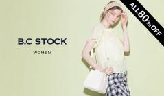 B.C STOCK WOMEN ALL80%OFF(ベーセーストック)のセールをチェック