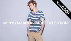 MEN'S ITALIAN APPAREL ALL ¥5,000(モードフルーレ)のセールをチェック