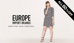 EUROPE IMPORT BRANDS_ALL80%OFFのセールをチェック