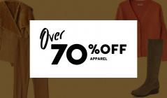 OVER 70%OFF - APPAREL -のセールをチェック