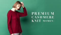 PREMIUM CASHMERE KNIT - WOMEN -のセールをチェック