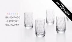 食卓に彩りを HANDMADE&IMPORT GLASSWAREのセールをチェック