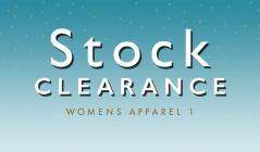 STOCK CLEARANCE WOMENS APPAREL 1のセールをチェック