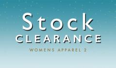 STOCK CLEARANCE WOMENS APPAREL 2のセールをチェック