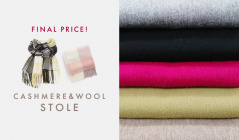 CASHMERE & WOOL STOLE -FINAL PRICE-のセールをチェック