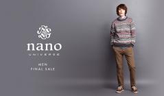 NANO・UNIVERSE MEN -FINAL SALE-(ナノ・ユニバース)のセールをチェック