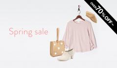 Spring sale over 70% OFFのセールをチェック