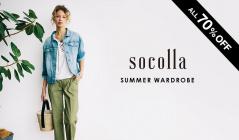 SOCOLLA -SUMMER WARDROBE-のセールをチェック