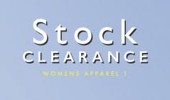 STOCK CLEARANCE WOMENS APPAREL1のセールをチェック